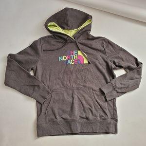 North Face Hoodie Sweatshirt Womens L Gray
